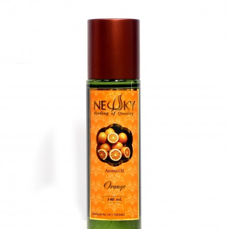 นิวสกาย อโรม่า ออย กลิ่นส้ม น้ำมันอโรม่า ส้ม Newsky aroma massage oil orange 140ml 140มล.