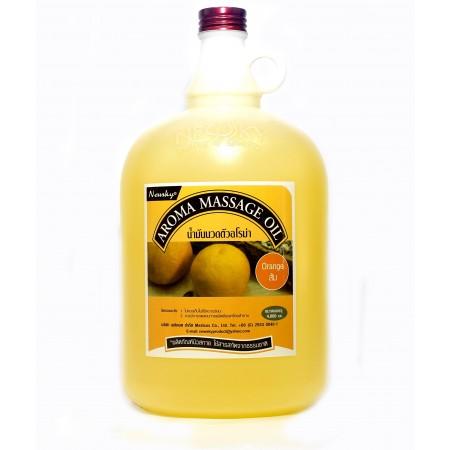 นิวสกาย อโรม่า ออย กลิ่นส้ม น้ำมันอโรม่า ส้ม Newsky aroma massage oil orange 4000ml 4000มล.